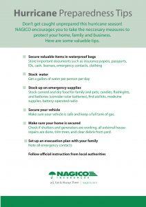 Hurricane preparedness tips - NAGICO Insurances